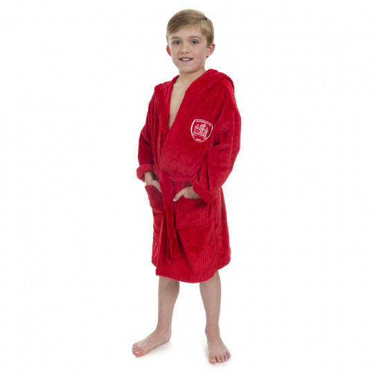 Kids Red Dressing Gown