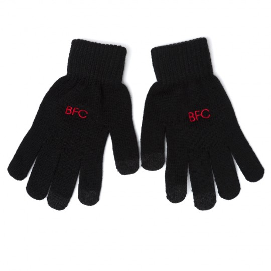 Black Adults Knitted Gloves