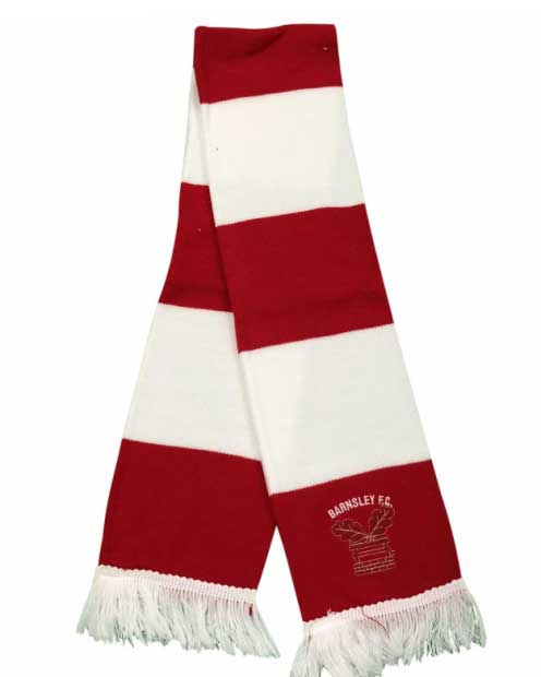 Red/White Bar Scarf
