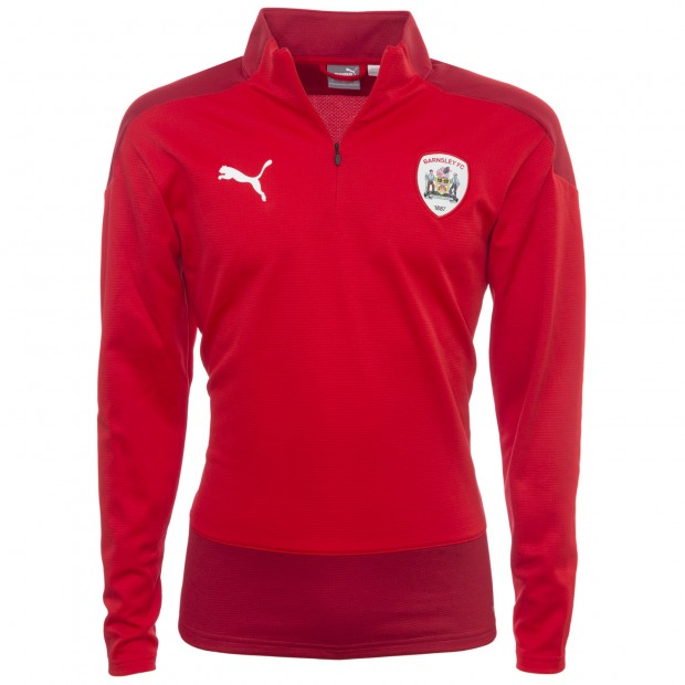 Puma Adult Red 1/4 Zip Track Top