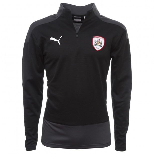 Puma Adult Black 1/4 Zip Track Top