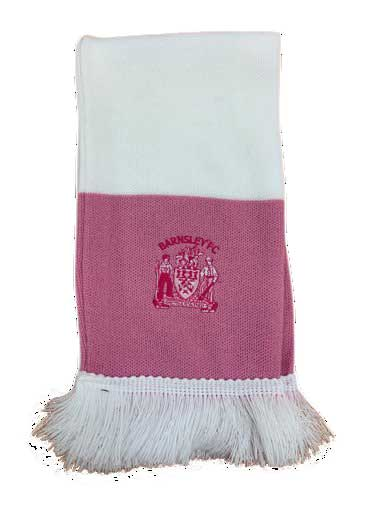 Pink Bar Scarf with tonal crest